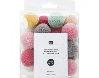 Set pompons - MIXTE PASTEL