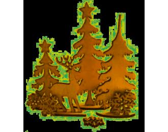 Planche décor forêt de Noel...