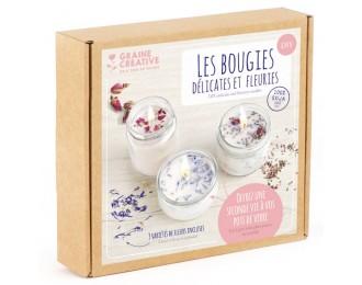 Kit Bougies - Fleurs séchées
